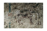 Egypt, Amarna, Tell El-Amarna, Necropolis, Tomb of Merire, Relief Depicting Chariot Race Giclee Print