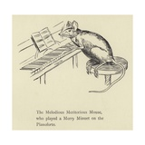 The Melodious Meritorious Mouse Giclee Print by Edward Lear