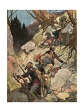 The Stampede of the Smugglers Giclee Print by René Bull