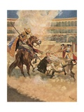 """The Bull Obligingly Avenged Me"" Giclee Print by René Bull"