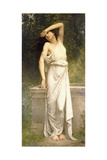 A Classical Beauty by a Well Giclee Print by William Adolphe Bouguereau