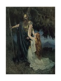 Brunnhilde Knelt at His Feet Giclee Print by Ferdinand Lecke