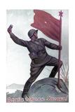 Soviet Soldier, 1940s Giclee Print