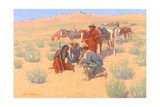 The Map in the Sand, 1905 Giclee Print by Frederic Sackrider Remington