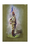 "Italian Colonial Native Cavalry, ""Hawk Feathers"" Giclee Print"