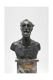 Bust of Jules Dalou, 1883 Giclee Print by Auguste Rodin
