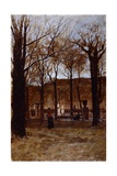 Gardens in Turin Giclee Print by Enrico Reycend