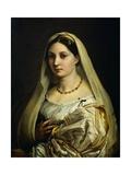 Woman with Veil, Circa 1516 Reproduction procédé giclée par  Raphael