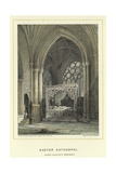 Exeter Cathedral, Bishop Stafford's Monument Giclee Print by John Francis Salmon