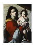 Madonna y el niño Lámina giclée por Bernardo Strozzi