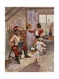 """That Girl Was Lively Company, I Can Tell You!"" Giclee Print by René Bull"
