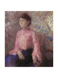 Portrait of Jeanne Chaire, 1903 Giclee Print by Odilon Redon