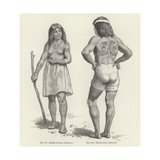 Tattooed Haida Woman and Man Giclee Print