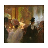 At the Music Hall Giclee Print by Gaston De La Touche