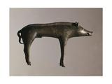 Czech Republic, Bohemia, Sarka, Votive Statuette Representing a Wild Boar, La Tene Culture, Bronze Giclee Print