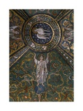 Clipeus with Mystic Lamb Supported by Four Angels and Nature Motifs, Mosaic Giclee Print