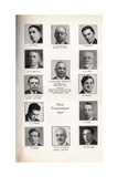 Participants of Nice Chess Tournament, 1930 Giclee Print