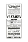 Advertisement for 'Plasmon Foods', 1911 Giclee Print