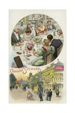 Dinner Party Giclee Print