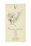 The Letter V Giclée-Druck von Edward Lear