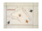 The Arabian Peninsula by Gaspar Viegased in Lisbon, 1537 Giclee Print