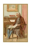 Trade Card Depicting a Portrait of James Watt Giclee Print