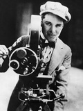 Charlie Chaplin Behind the Camera Photographic Print