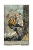 Abseiling on a Rope Giclee Print