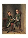 Portrait of Two Boys, 1740-42 Giclee Print by Francis Hayman