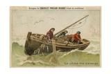 Chocolat Poulain Orange Trade Card Giclee Print