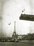 Diving Off a Platform on the Ile Des Cygnes Photographic Print