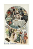 Enjoying Suchard Chocolate at a Masked Ball Giclee Print