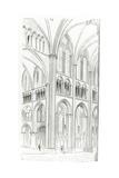 Interior of Cluny Cathedral Giclée-Druck von Eugene Emmanuel Viollet-le-Duc
