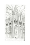Interior of Cluny Cathedral Giclee Print by Eugene Emmanuel Viollet-le-Duc