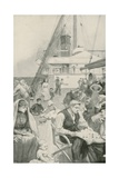 Amusements on Board an Emigrant Ship Giclee Print by Enoch Ward