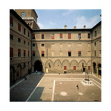 Ferrara, Estense Castle of San Michele, Courtyard, 1358 Giclee Print