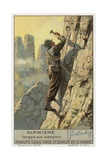 Climbing Using Crampons Giclee Print