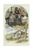 Feeding a Young Child Suchard Cocoa Giclee Print