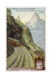 Gornergrat Rack and Pinion Railway, Switzerland Giclee Print
