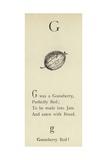 The Letter G Giclée-Druck von Edward Lear