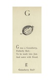 The Letter G Giclee Print by Edward Lear