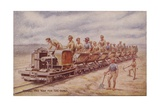 Paving the Way for the Guns, World War I Giclee Print
