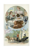 Ladies Enjoying Suchard Cocoa Giclee Print