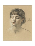 Head of a Girl, 1883 Giclee Print by Edward John Poynter