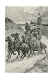 A Stage-Coach in the Olden Times Giclee Print by Gordon Frederick Browne