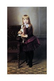 Young Girl with Her Doll, 1887 Giclee Print by Emil Brack