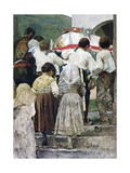 The Burial of a Child, Italy Giclee Print by Luigi Nono