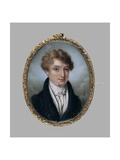 A Young Man with the Initials J.L.F., C.1830 Giclee Print by Auguste Hervieu
