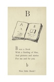 The Letter B Giclee Print by Edward Lear