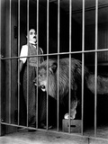 """Charlie Chaplin Filming """"The Circus"""" 1928 Photographic Print"""